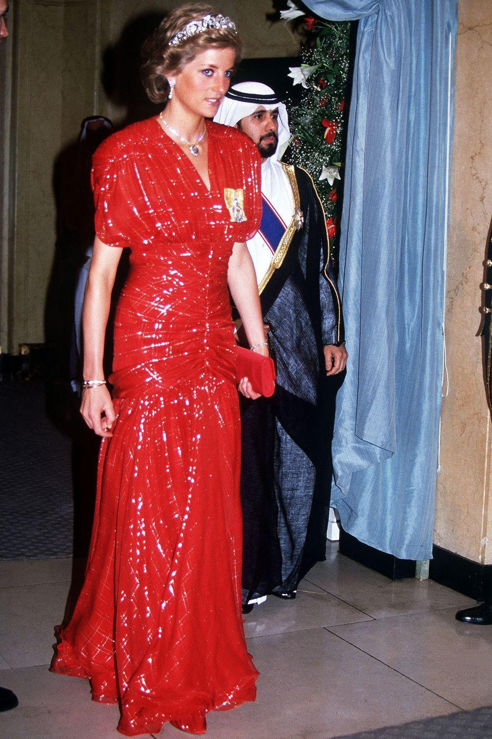 <p>It might not be your first guess, but red was definitely one of Princess Di's best colors. </p>