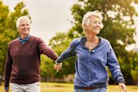 """A long walk might be just antidote for an aching back. A 2012 study of adults with chronic lower back pain, published in <em>Clinical Rehabilitation</em>, found that a <a href=""""https://journals.sagepub.com/doi/10.1177/0269215512453353"""" rel=""""nofollow noopener"""" target=""""_blank"""" data-ylk=""""slk:six-week walking program"""" class=""""link rapid-noclick-resp"""">six-week walking program</a>, which involved working up from a 20-minute stroll to a 40-minute walk, was just as effective for pain relief as an expensive strengthening rehab program. At the end of their programs, both groups were able to walk farther, with reduced back pain. And if you're struggling with back pain while social distancing, discover <a href=""""https://bestlifeonline.com/get-rid-of-back-pain/?utm_source=yahoo-news&utm_medium=feed&utm_campaign=yahoo-feed"""" rel=""""nofollow noopener"""" target=""""_blank"""" data-ylk=""""slk:The Single Best Way to Ease Your Lower Back Pain"""" class=""""link rapid-noclick-resp"""">The Single Best Way to Ease Your Lower Back Pain</a>."""