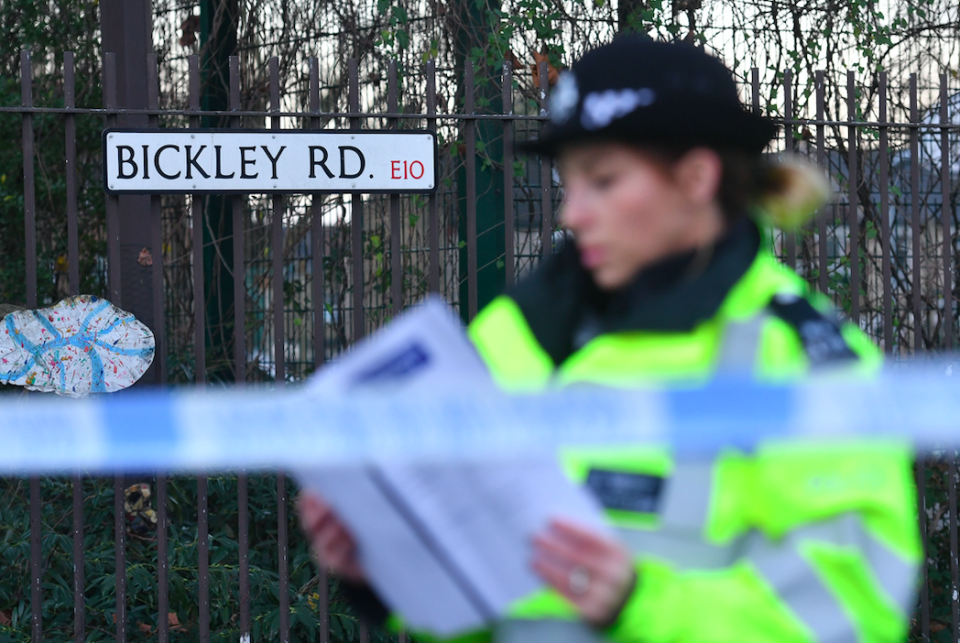 <em>Jayden was knocked down on Tuesday in Bickley Road, Leyton, and then stabbed several times by three attackers as he lay unconscious in the road (PA)</em>