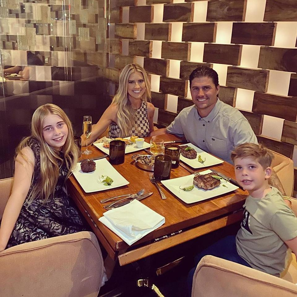 """<p>The duo took Haack's children <a href=""""https://www.instagram.com/p/CS8Bp76FbBj/"""" rel=""""nofollow noopener"""" target=""""_blank"""" data-ylk=""""slk:out to dinner"""" class=""""link rapid-noclick-resp"""">out to dinner</a> during a quick 24-hour jaunt to Las Vegas. </p>"""