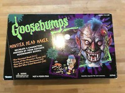 """<p>If you're one of the few people who bought this and actually held onto it, nice work: it's <a href=""""https://www.ebay.com/itm/Goosebumps-Monster-Head-Maker-Playset-R-l-Stine-90s-Toy-VINTAGE-RARE/303172805049?hash=item469681e1b9:g:rP4AAOSwLoJc8HzK"""" rel=""""nofollow noopener"""" target=""""_blank"""" data-ylk=""""slk:worth"""" class=""""link rapid-noclick-resp"""">worth</a> more than a hundred bucks. </p>"""