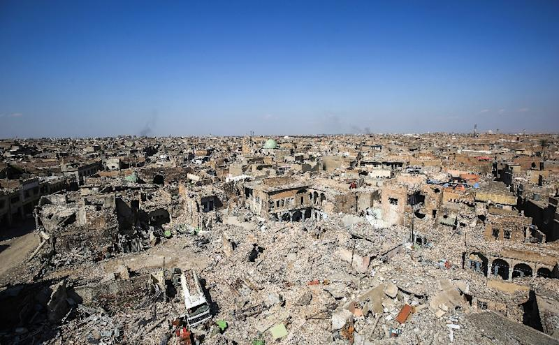 The old city in Mosul pictured in March 2018, after the Islamic State was pushed out some months earlier; the city has produced every Iraqi defence minister since 2003, including Monday's appointee General Najah al-Shemmari