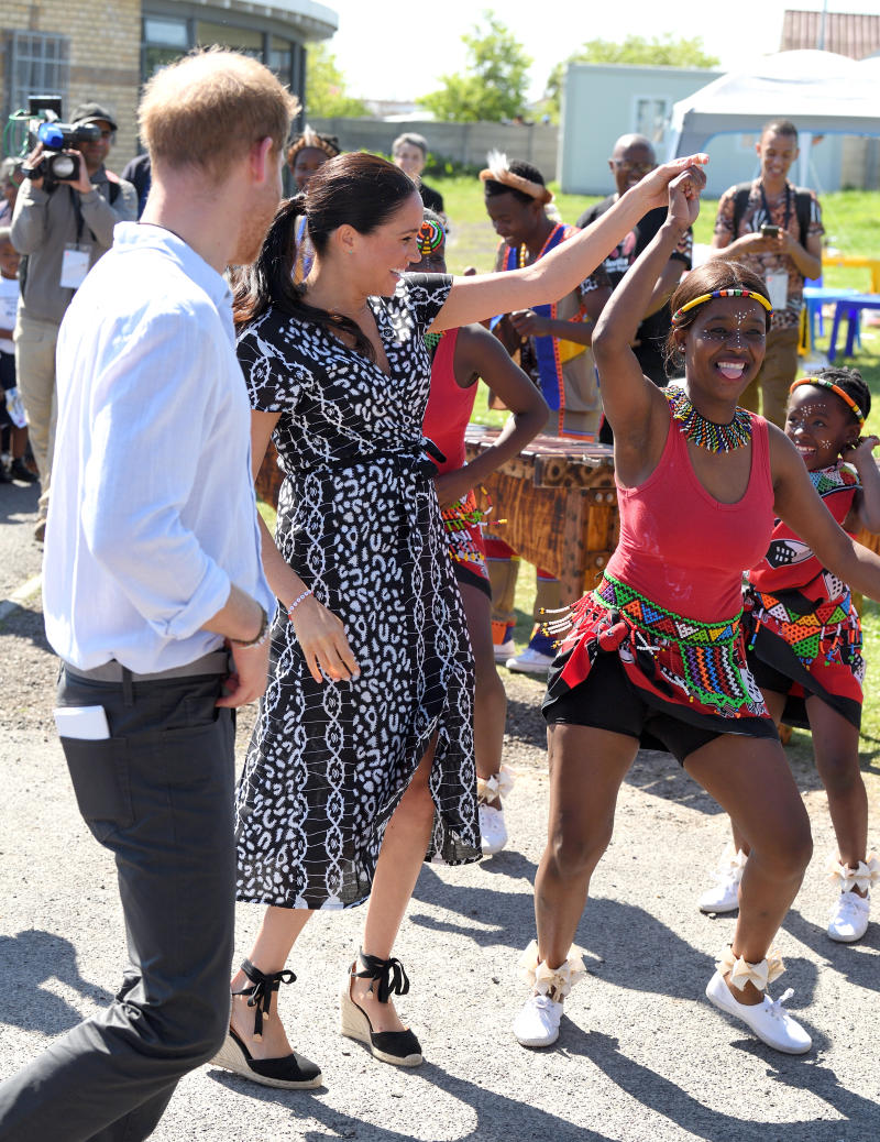 Meghan Markle dances while on royal tour in South Africa