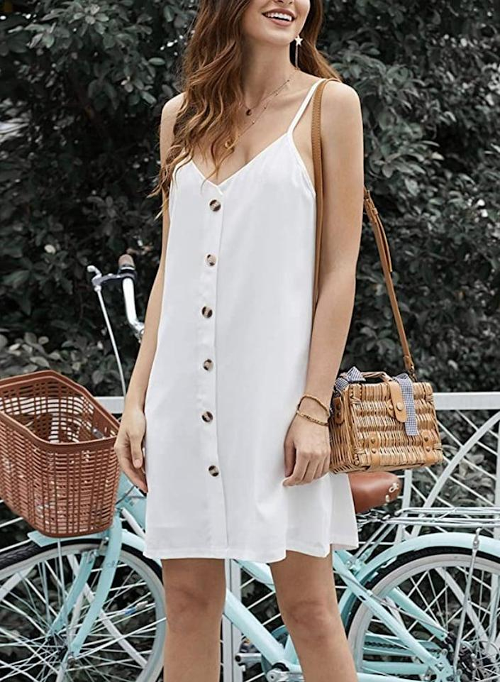 <p>This <span>Chase Secret Sleeveless Mini Dress</span> ($7-$25) is relaxed and easygoing, making it a failsafe choice for spontaneous outings.</p>