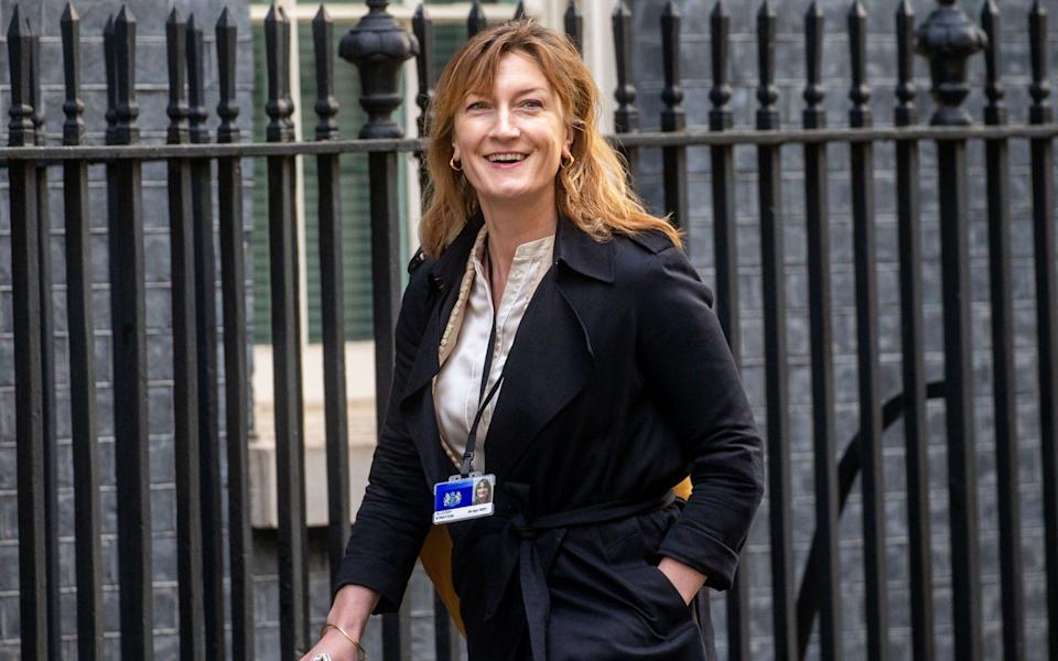 Allegra Stratton, Former ITV News Editor, arrives in Downing Street. She is the Head of Communications for Chancellor Rishi Sunak