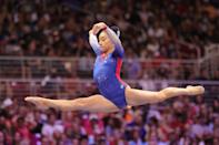 """<p>Wong, 18 and from Overland Park, KS, will be joining the Florida Gators for this upcoming <a href=""""http://floridagators.com/news/2021/6/27/leanne-wong-joins-us-gymnastics-olympic-team-as-a-replacement-athlete.aspx"""" class=""""link rapid-noclick-resp"""" rel=""""nofollow noopener"""" target=""""_blank"""" data-ylk=""""slk:NCAA gymnastics season"""">NCAA gymnastics season</a> as a freshman. She finished third on floor at the US Gymnastics Championships this year. She won a <a href=""""http://usagym.org/pages/athletes/athleteListDetail.html?id=431412"""" class=""""link rapid-noclick-resp"""" rel=""""nofollow noopener"""" target=""""_blank"""" data-ylk=""""slk:team gold medal"""">team gold medal</a> when she represented the US at the 2019 Pan American Games.</p> <p><strong>Follow Leanne Wong on Instagram:</strong> <a href=""""https://www.instagram.com/leanne.wong_/"""" class=""""link rapid-noclick-resp"""" rel=""""nofollow noopener"""" target=""""_blank"""" data-ylk=""""slk:@leanne.wong_"""">@leanne.wong_</a></p>"""
