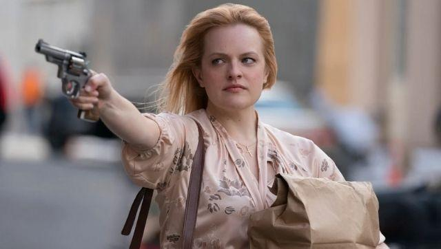 Elizabeth Moss as Claire in a still from The Kitchen. Image from Twitter