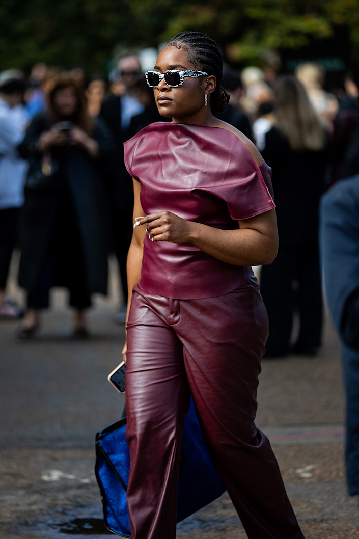 <p>Head-to-toe leather is a thing going into the cooler months.</p>
