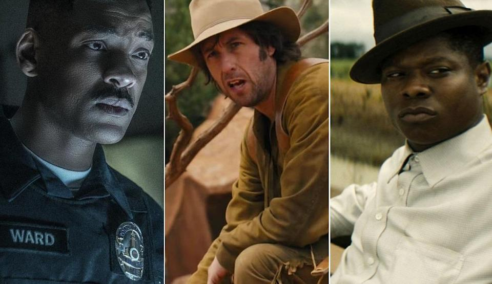 (From left) Netflix exclusives Bright, The Ridiculous 6, and Mudbound. (Netflix)