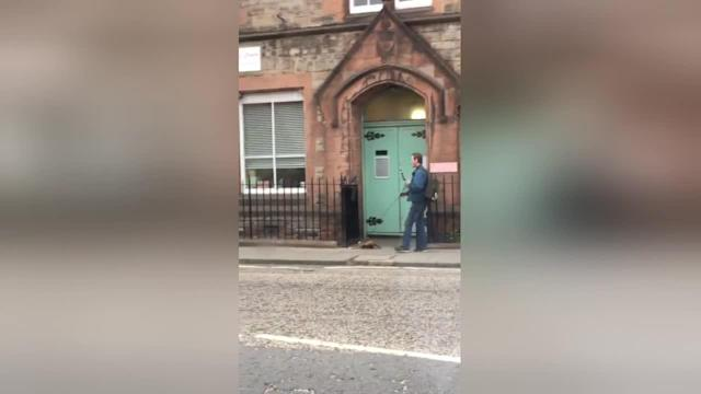 "A man has been filmed taking a ferret for a walk on a lead on a street in Edinburgh. The video, captured by Calvin Charlton, was shot yesterday (May 30), and shows the man with a ferret on the lead. He picks the animal up and puts him in his bag after taking it for a walk. ""I was driving to pick my partner up from a carer shift in the Stockbridge area when I was diverted (due to road closures) onto a different route. When driving down Pleasance in Edinburgh I spotted a man with a ferret on the lead - which I saw as too good an opportunity to miss for my social media platforms. I pulled up down the road, turned the engine off and stuck the hazards on and began filming. I'd never seen anything like it"", writes the filmer."