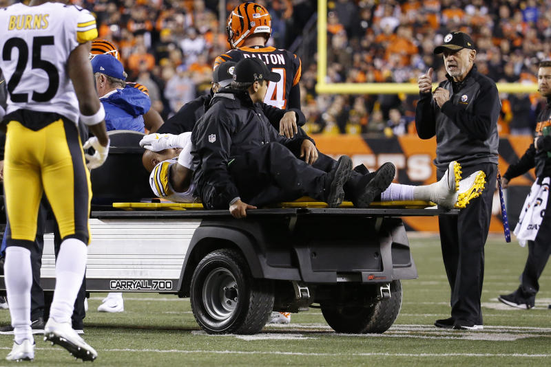 Pittsburgh Steelers inside linebacker Ryan Shazier's injury affected many people watching, including former safety Rodney Harrison. (AP)