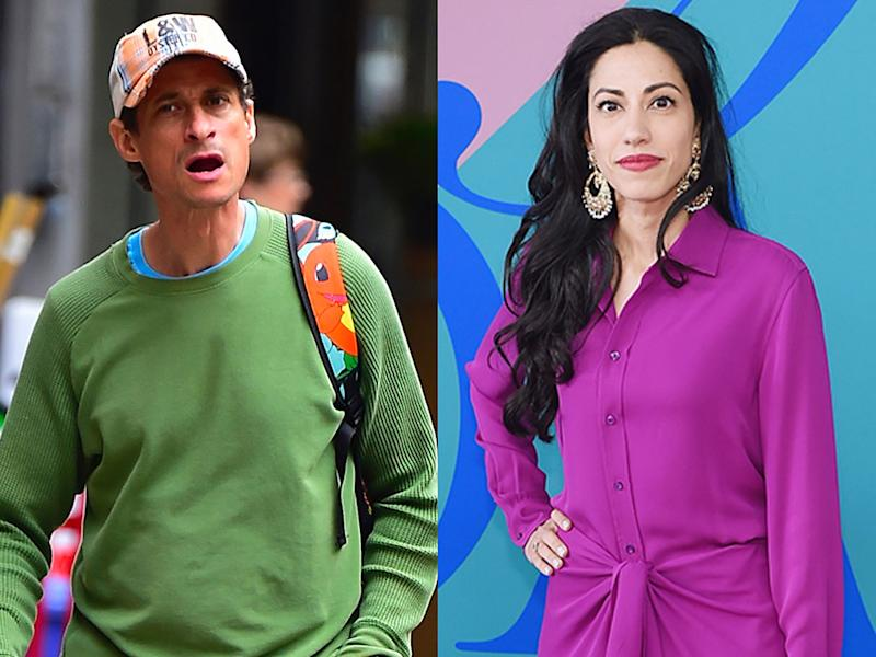 Anthony Weiner and Huma Abedin are moving on a little differently. (Photo: Getty Images)