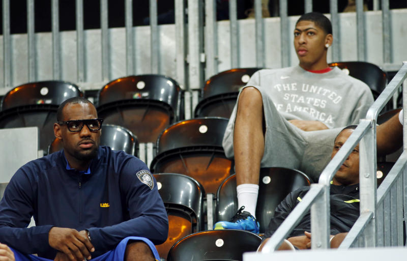 Seven years after joining forces with USA Basketball, LeBron James and Anthony Davis are teammates again. (Reuters)