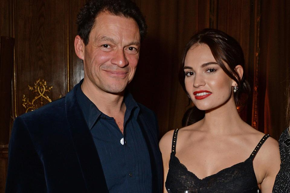Dominic West and Lily James (Dave Benett/Getty Images for Har)