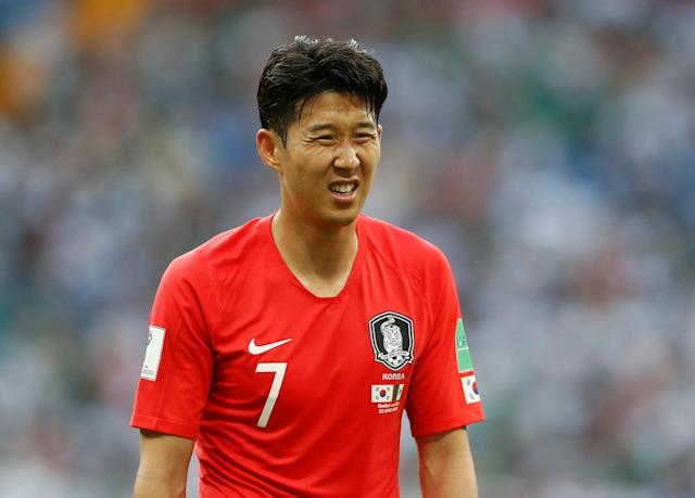Soccer Football - World Cup - Group F - South Korea vs Mexico - Rostov Arena, Rostov-on-Don, Russia - June 23, 2018 South Korea's Son Heung-min reacts REUTERS/Damir Sagolj