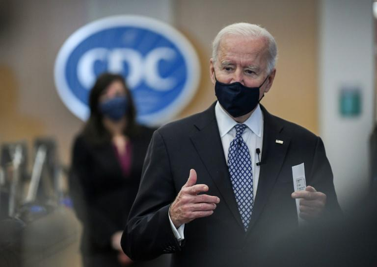 US President Joe Biden visited the Centers for Disease Control and Prevention in Atlanta, Georgia, where he received an update on the nation's battle against the coronavirus pandemic