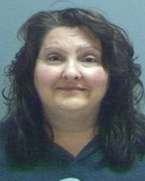 Amy Martz in her mug shot