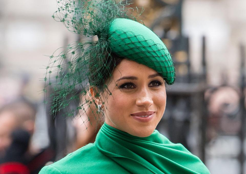 LONDON, ENGLAND - MARCH 09:  Meghan, Duchess of Sussex attends the Commonwealth Day Service 2020 on March 09, 2020 in London, England. (Photo by Samir Hussein/WireImage)