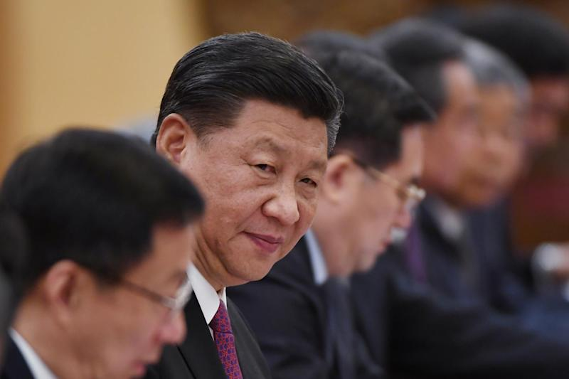 Chinese President Xi Jinping looks on during a meeting with Russian President Vladimir Putin (not seen) in the Great Hall of the People in Beijing, China June 8, 2018. Greg Baker/ Pool via REUTERS