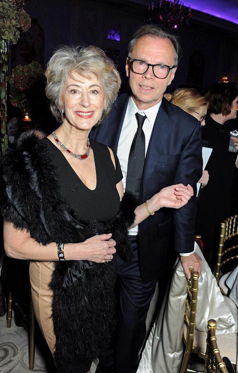 Stage career: Maureen Lipman with director Jonathan Kent at the 2013 Evening Standard Theatre Awards (Dave Benett)