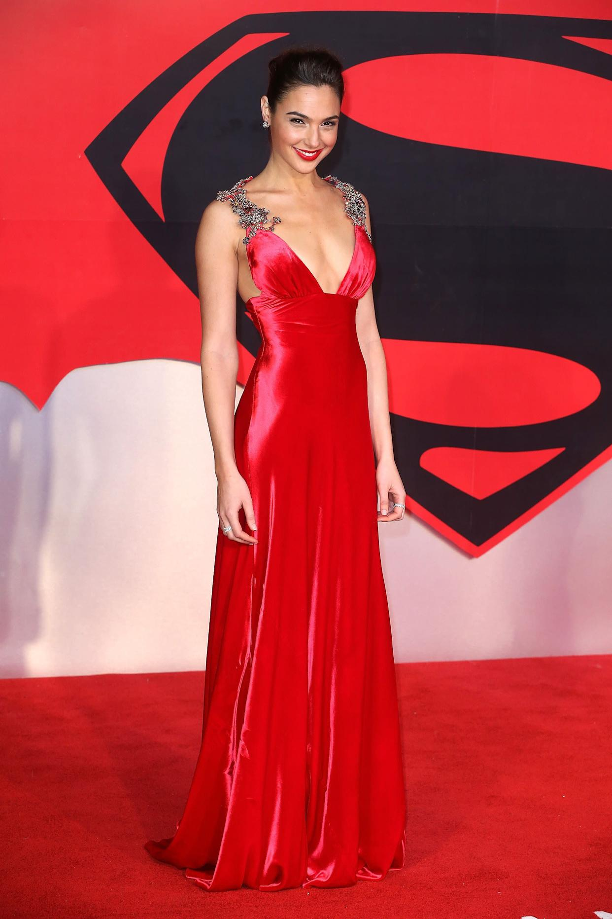"At the European Premiere of ""Batman v Superman: Dawn Of Justice."""