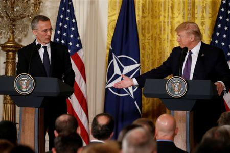 FILE PHOTO: U.S.  President Trump and NATO Secretary General Stoltenberg hold joint news conference at the White House in Washington