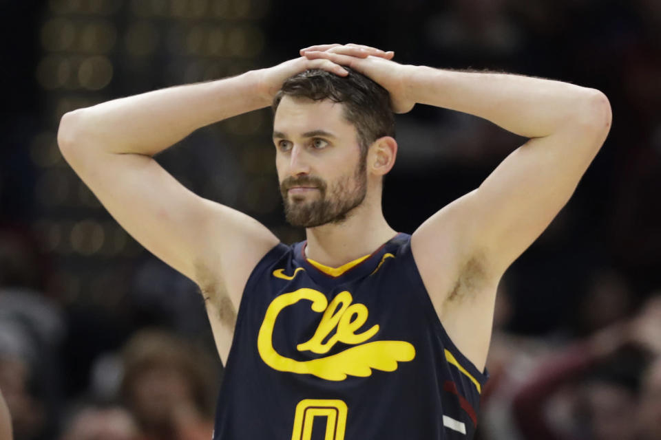 Cleveland Cavaliers forward Kevin Love has long been an advocate for mental health in the league. (AP/Tony Dejak)