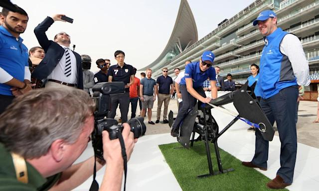 "<span class=""element-image__caption"">Charlie Appleby, right, and the jockey William Buick entertain the press at Meydan on Thursday morning.</span> <span class=""element-image__credit"">Photograph: racingfotos.com/Rex/Shutterstock</span>"