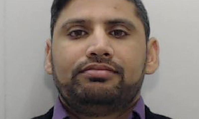 Police mugshot of Mustafa Bashir, who is now behind bars for domestic violence.