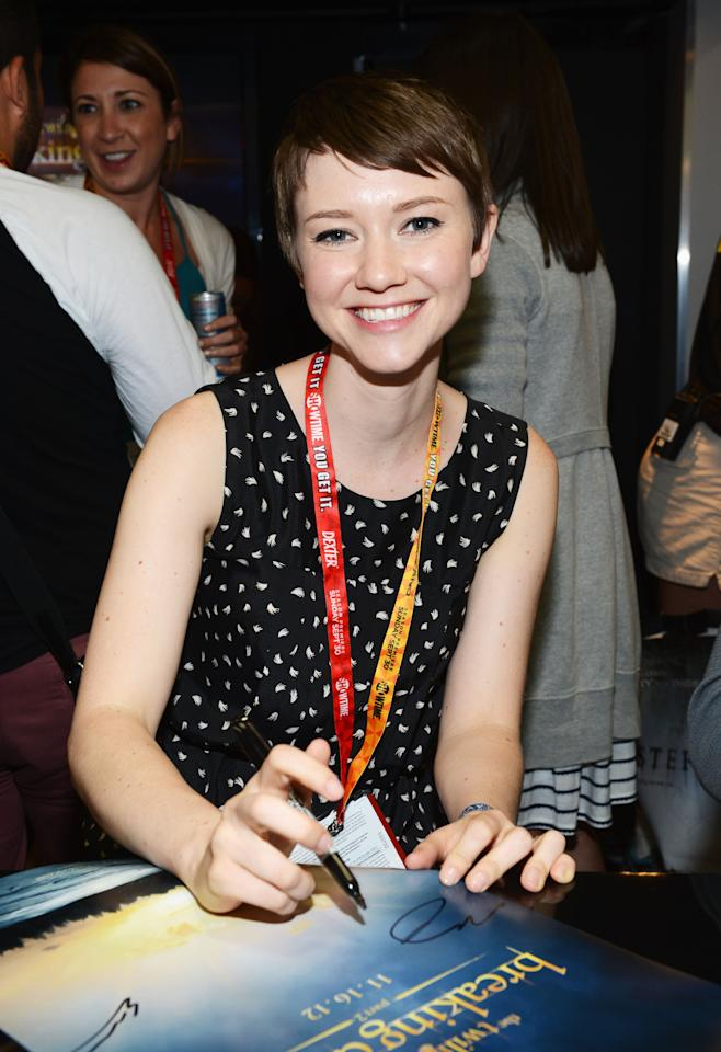 "SAN DIEGO, CA - JULY 12: Actress Valorie Curry attends ""The Twilight Saga: Breaking Dawn Part 2"" during Comic-Con International 2012 at San Diego Convention Center on July 12, 2012 in San Diego, California.  (Photo by Michael Buckner/Getty Images for Lionsgate)"