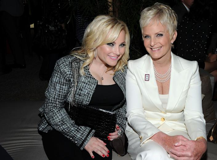 WEST HOLLYWOOD, CA - OCTOBER 07: Activist Meghan McCain and Cindy Hensley McCain attend ELLE and Express '25 at 25' Event held at Palihouse Holloway on October 7, 2010 in West Hollywood, California. (Photo by Michael Buckner/Getty Images for ELLE)