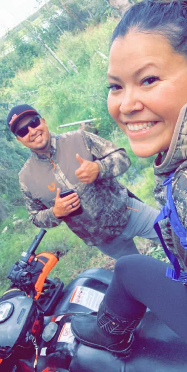 Jessica DeLeary, from Dettah, N.W.T., with her partner Duncan Sangris. She says it's the little things that he does day-to-day that really opened her eyes. 'This is my partner in life and he's a pretty great choice,' she said.