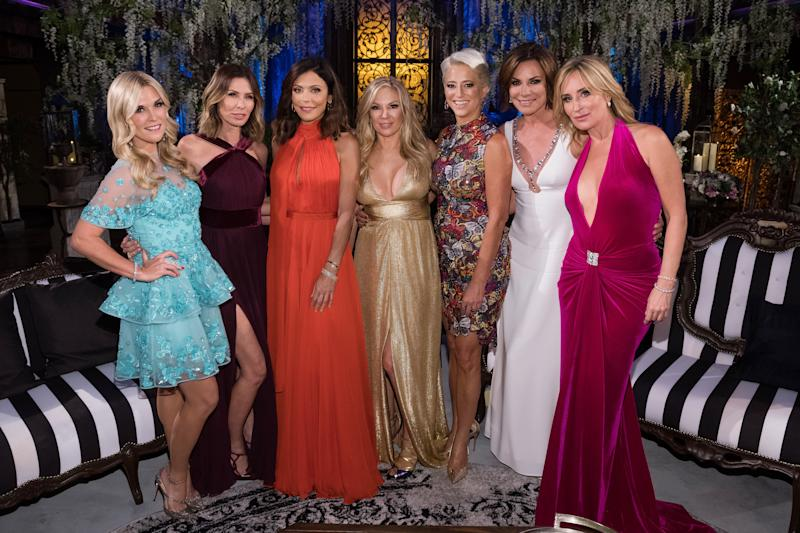 """The cast of """"The Real Housewives of New York City."""" (Bravo via Getty Images)"""