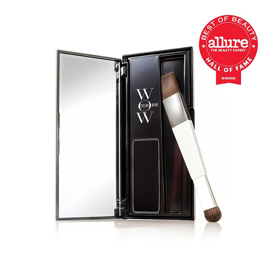 """<p>At first glance, if you didn't know what Color Wow Root Touch Up is, you might think it's an eye shadow or brow powder. But inside the easily portable compact is actually a multiple Best of Beauty award-winning <a href=""""https://www.allure.com/gallery/women-with-gray-hair-embracing-aging-interview?mbid=synd_yahoo_rss"""" rel=""""nofollow noopener"""" target=""""_blank"""" data-ylk=""""slk:gray-hair"""" class=""""link rapid-noclick-resp"""">gray-hair</a> concealer like none other. """"It's a pressed powder — in eight shades, from platinum to black — that comes with a small brush so I can pinpoint my grays and avoid my fancy salon highlights better than I can with a spray or loose powder,"""" says executive beauty director Jenny Bailly, who adds that its finish is <a href=""""https://www.allure.com/review/color-wow-root-cover-up?mbid=synd_yahoo_rss"""" rel=""""nofollow noopener"""" target=""""_blank"""" data-ylk=""""slk:like real hair"""" class=""""link rapid-noclick-resp"""">like real hair</a>, so it never turns dull or stiff the way some sprays and hair mascaras do.</p> <p><strong>Best of Beauty Awards: 7</strong></p>"""