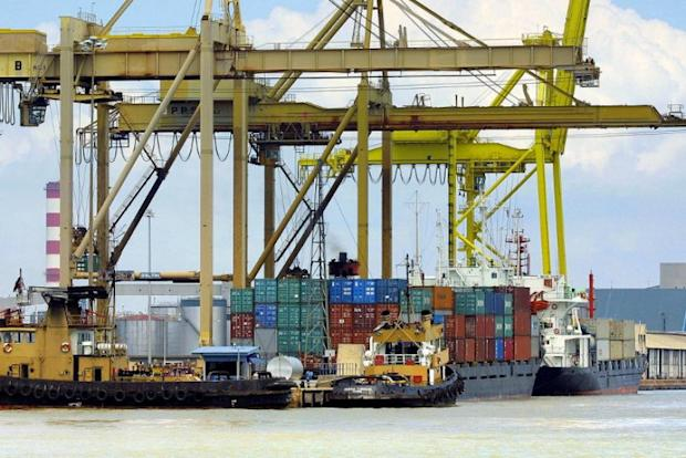 Penang port (pic) must be deepened to allow entry of bigger ships with dredging work urged. — AFP pic