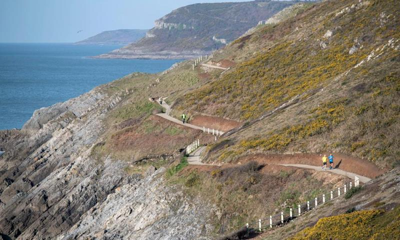 Coast path near Langland beach, Wales