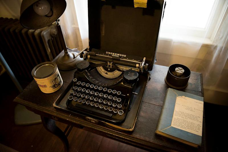 One of the typewriters of William Faulkner in Rowan Oak also known as the William Faulkner House.