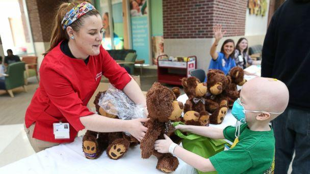 HT teddy bear clinic 1 jt 140322 16x9 608 Young Patients at Indiana Childrens Hospital Diagnose Stuffed Bears