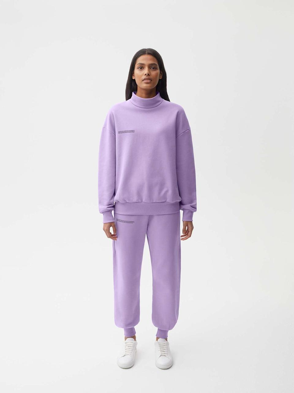 """<p>""""I'm already obsessed with Pangaia's sweatsuits, so obviously, I wanted to give the organic <span>Cotton Pajama Top</span> ($80) and <span>Pajama Pants</span> ($70) a try."""" - NC</p>"""