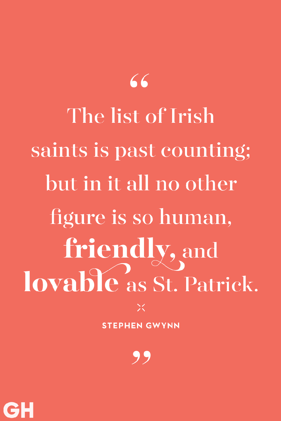 <p>The list of Irish saints is past counting; but in it all no other figure is so human, friendly, and lovable as St. Patrick.</p>