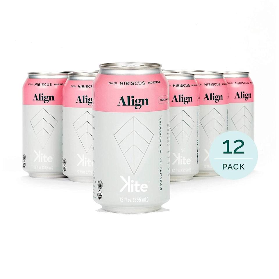 <p>Give your tea a spring refresh with the <span>Kite; Organic Sparkling Adaptogenic Tea, ALIGN Tulsi Hibiscus, 12 Pack</span> ($35). It hass no sugar, sweeteners, artificial flavors or preservatives. It's also caffeine free and keto-friendly. </p>