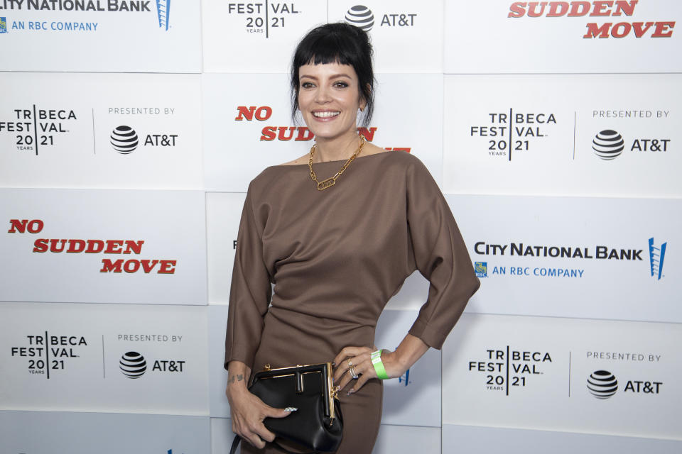 Lily Allen criticised those commenting on her body. (Photo by Santiago Felipe/Getty Images)