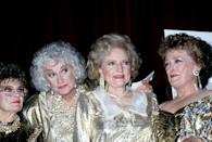"""<p>Although the cast of <em>Golden Girls</em> were great friends on the show, things were a little different behind the scenes — Bea Arthur and White didn't seem to get along very well. <a href=""""https://www.villagevoice.com/2011/05/05/betty-white-reveals-why-bea-arthur-hated-her/"""" rel=""""nofollow noopener"""" target=""""_blank"""" data-ylk=""""slk:White once said"""" class=""""link rapid-noclick-resp"""">White once said </a>of Arthur, """"She was not that fond of me. She found me a pain in the neck sometimes. It was my positive attitude — and that made Bea mad sometimes. Sometimes if I was happy, she'd be furious!"""" </p>"""