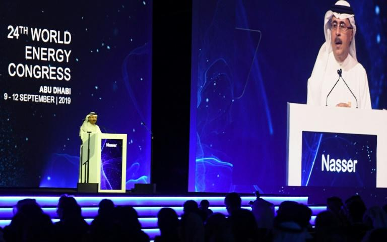 Saudi Aramco CEO Amin Nasser was among the speakers at the World Energy Congress in Abu Dhabi