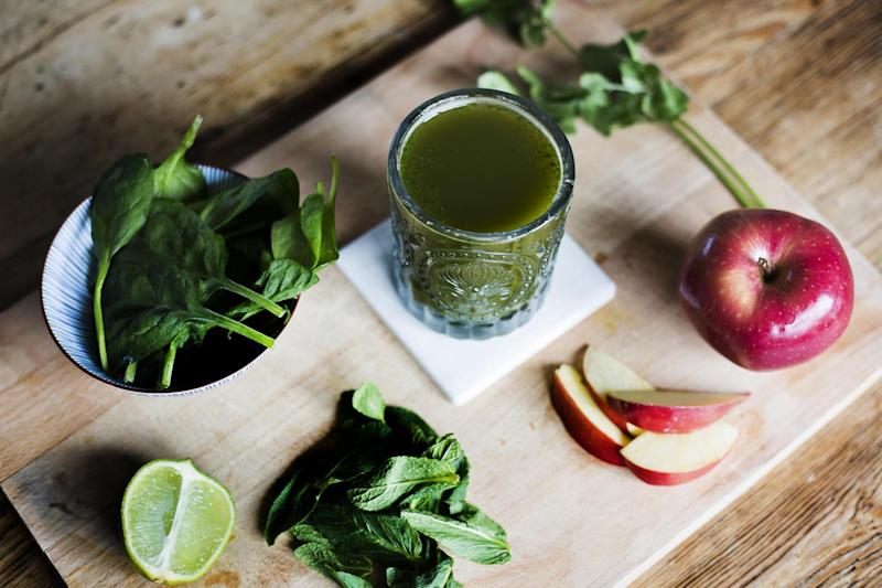 Minty fresh spring cleaning juice: Hannah Hutchins