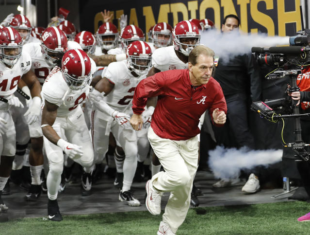 Another year, another season Alabama starts at No. 1. (AP Photo/David Goldman, File)