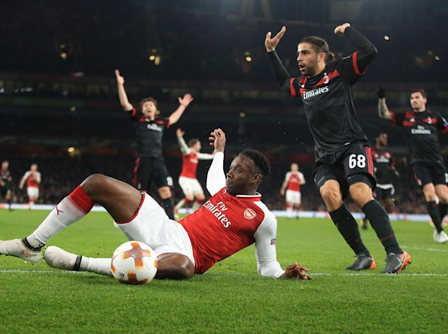 Arsenal forward Danny Welbeck will not face action over alleged dive against AC Milan in Europa League