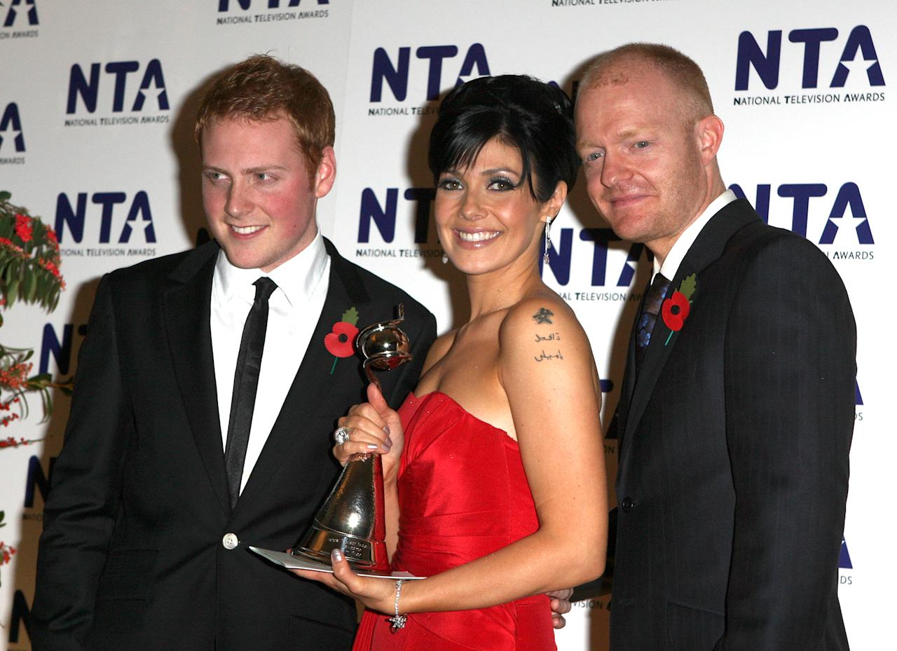(left to right) Charlie Clements, Kym Ryder and Jake Wood, backstage during the National Television Awards 2007, Royal Albert Hall, London.   (Photo by Steve Parsons - PA Images/PA Images via Getty Images)