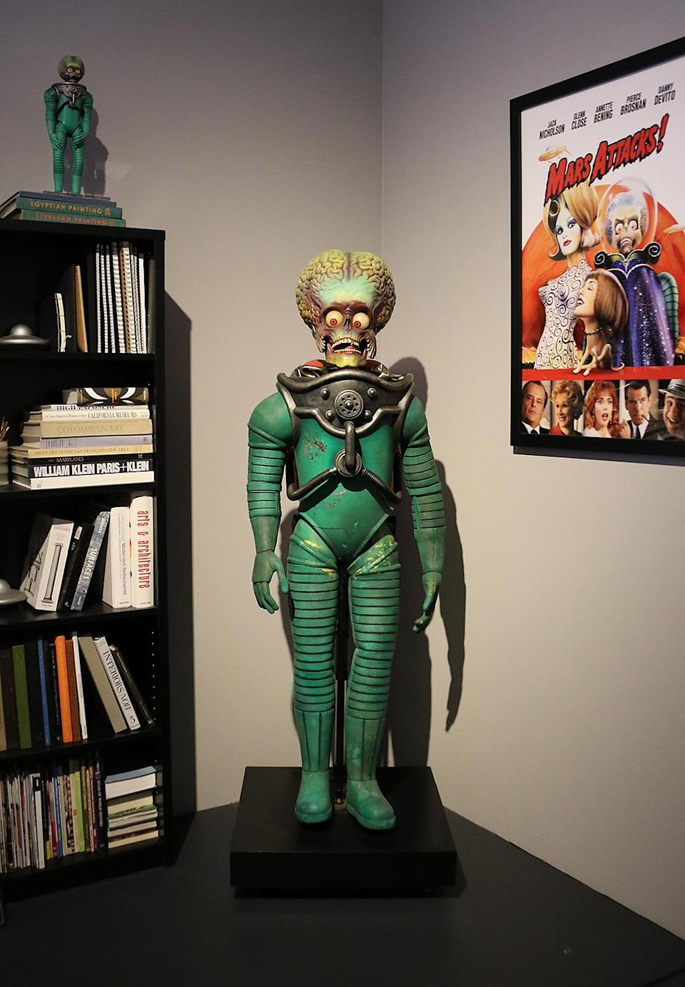 <p>This life-sized extraterrestrial co-starred in Tim Burton's comedic alien-invasion flick. (Photo: Angela Kim/Yahoo) </p>