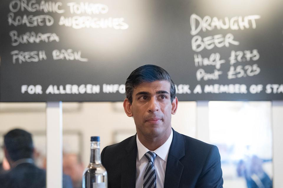 EMBARGOED TO 1200 THURSDAY OCTOBER 22 Chancellor of the Exchequer Rishi Sunak hosting a roundtable for business representatives at Franco Mana in Waterloo, London. The Chancellor is set to announce a new support package for businesses affected by Tier 2 restrictions.